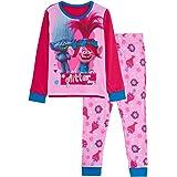 Trolls Conjunto de 2 pijamas para niñas con diseño de amapola World Tour de 2 piezas y pantalones de salón