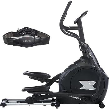 skandika Crosstrainer CardioCross Carbon Pro, 23,5 kg Schwungmasse, wartungsarmes Bremssytem über Magnettechnologie, Transportrollen, Kalorienverbrauch, Zeit und Pulsmessung …
