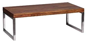 WOHNLING Couchtisch WL1307 Massiv Holz Sheesham 120 Cm Breit Wohnzimmer Tisch Design Dunkel Braun Amazonde Kche Haushalt