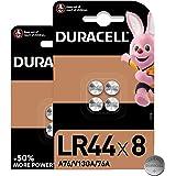Duracell - Pilas especiales alcalinas de botón LR44 de 1,5 V, paquete de 8 unidades (76A/A76/V13GA) diseñadas para su uso en