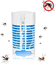 lovelyhome Electronic Mosquito Indoor Mosquito Repellent Insect Bug Killer Zapper with LED Light Lamp