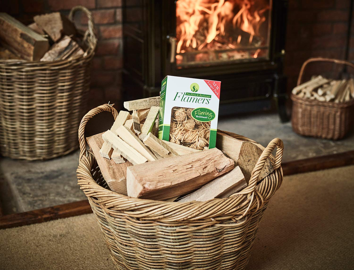 Flamers Natural Firelighters For Woodburners, Stoves, Barbeques and Campfires (200 units) 3