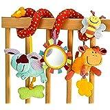 StillCool Juguetes Colgantes Espiral de Animales, Bebé Infantil Cuna Juguete Colgando Sonajeros Espiral para Cuna Cochecito C