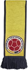 adidas World Cup Soccer Columbia Home Scarf, One Size, Bright Yellow/Collegiate Navy