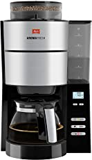 Melitta AromaFresh 1021-01, Filterkaffeemaschine mit integriertem Mahlwerk, Schwarz