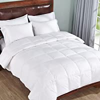 """Linenwalas All Season 5* Star Microfiber Anti Allergic Warm Duvet/AC Comforter/Quilt Special for Winters-Solid White-King Size (90"""" x 100)"""