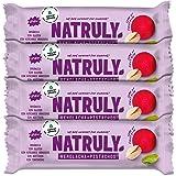 NATRULY Barritas Energéticas BIO Remolacha y Pistacho Sin Azúcar Añadido, 100% Natural y Orgánicas, Sin Gluten, Vegana -Pack