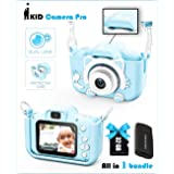 Kids Camera | Real Selfie iKID DIGITAL CAMERA PRO | Rechargeable Portable Toy for 3 4 5 6 7 8 9 + Year Old Smart Child | Lear