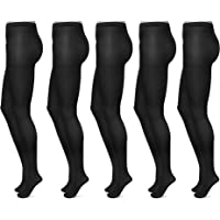 FM London (5-Pack) Women's Tights | Microfibre, Durable, Comfort Stretch Fit
