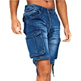 Crosshatch Mens Casual Cargo Combat Shorts Cotton Summer Knee Length Pants