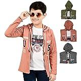 Softy Jeans Fashion Importerd Hosiery Fabric Full Sleeves Boy Shrug/Jacket with Hoodie