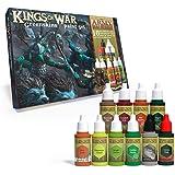 The Army Painter | Warpaints Kings of War Greenskins Paint Set | 10 Peintures Acryliques pour Peindre des Figurines d'Orcs, d