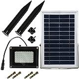 Solar-Flutlicht, 54 LED,Sicherheitslicht für außen, Solar-LED-Fluter, Landschaftslampe für Rasen, Garten, Straße, Hotel, Pool, Teich etc.