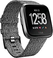Fitbit Versa Health & Fitness Smartwatch with Heart Rate, 4+ Day Battery & Water Resistance, Special Edition, Charcoal...