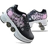NOLLY 2-in-1 Multifunctionele Vervormen Quad Rolschaatsen Laarzen Voor Vrouwen Mannen, Jongens Kids Wielschoenen Roller Sneak