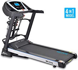 Welcare Motorized Treadmill WC3545 1.75 HP(3.5 HP Peak), Multipurpose Treadmill -Massager, Sit up, Dumbbell,India's Most Trusted Fitness Equipment's Brand