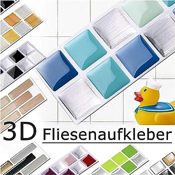 Nighteyes66 Mosaic Wall Stickers Kitchen Bathroom Waterproof Backsplash Self Adhesive Baseboard Tile Stickers 1M