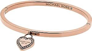 Michael Kors bracciale rigido oro rosa con cuore