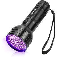 YOUTHINK Torcia UV, Lampada Ultravioletta 395nm per Animali Cane Gatto Urina, Scorpioni (51 LEDs) [Classe di efficienza…