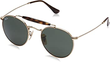 Ray-Ban Unisex, Green Sunglasses RB3747 001 50 50 mm