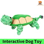 PetSutra Natural Jute and Cotton Rope Tortoise Shaped Dog Chew Toy