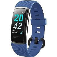 KUNGIX [Neuestes Modell] Fitness Tracker, Schrittzähler Uhr IP68 Wasserdicht Smartwatch mit Pulsmesser Smart Watch für…