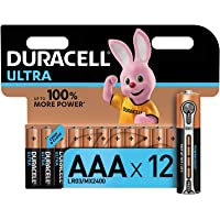 Duracell Ultra AAA Alkaline Batteries [Pack of 12], 1.5 V LR03 MN2400