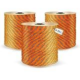 DQ-PP   Polypropyleen touw   Diameter: 2 mm   Lengte: 10 meter   Kleur: oranje   kunststof koord   gevlochten textiellijn   w