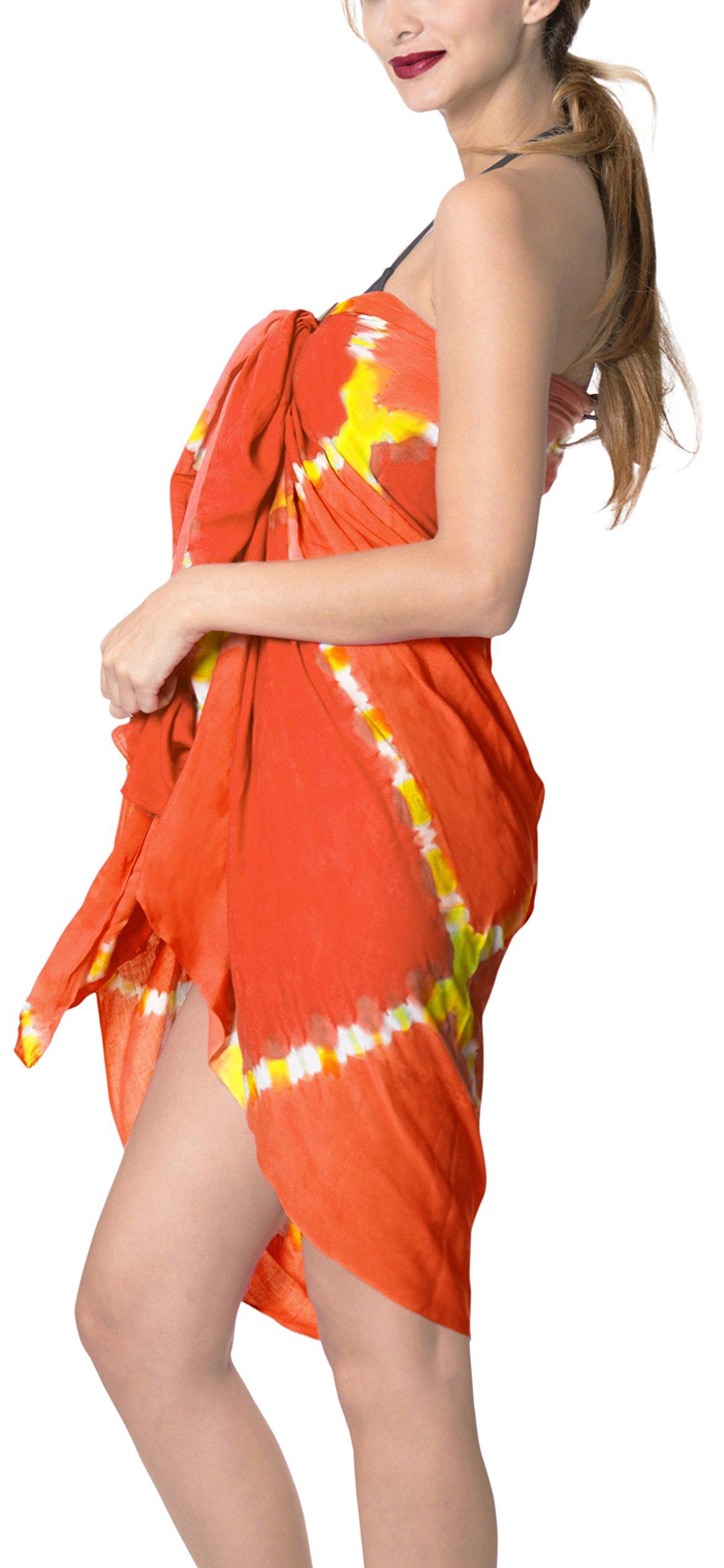 LA LEELA Rayon Costumi da Bagno Involucro Pareo Avvolgere Lungo Sarong Tie Dye 3 spesavip