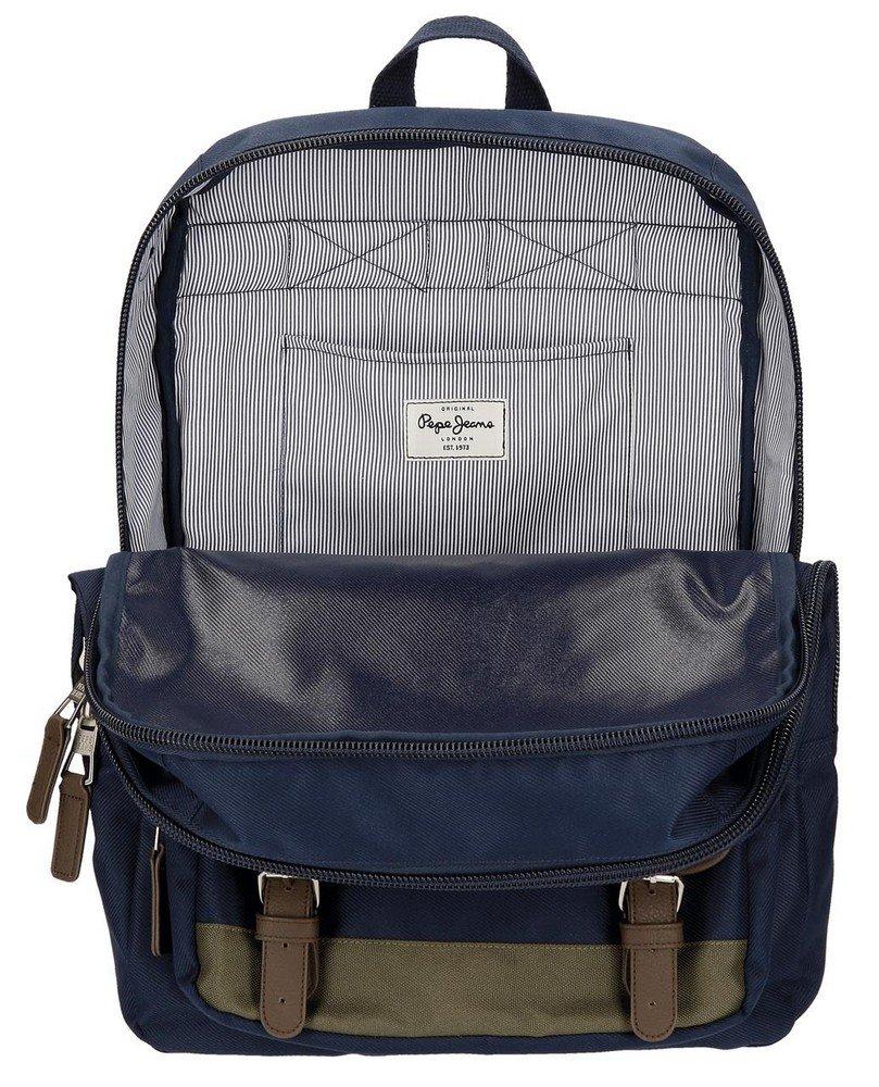 717qNCNJyTL - Pepe Jeans Alber Mochila Escolar, 42 cm, 19.44 litros, Multicolor