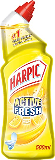 Harpic Toilet Cleaner Liquid Active Fresh, Citrus, 500 ml