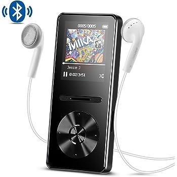AGPTEK Lettore MP3 con Bluetooth 4,0, Metal 8 GB Musica Player Hi-Fi Lossless Sound con Radio FM, Colore Nero A29TB