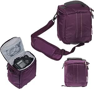 Navitech Lila Digital Slr Kamera Schutz Tasche Etui Cover Für Canon Powershot Sx430 Is