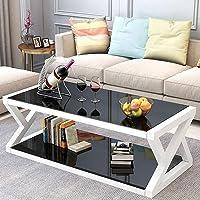 UnfadeMemory Tavolino da caff/è Tavolino da Salotto con 1 ripiano Tavolino Basso Bianco 110x60x47 cm in Truciolato