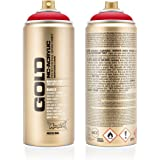 Montana Cans 285646 Montana Spray Box Gold 400ml-SHOCK Colors, Gld400-s3000-Shock Red