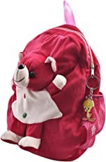 Baby Born Kids Soft Toy Teddy BearSchool Bag with Key Ring (Rose Pink)