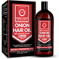 Honest Choice Onion Hair Oil For Hair Growth For Women and Men | Hair Fall Control With All Essential Oil Like Argon Oil…