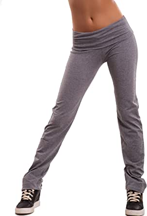 Toocool - Pantaloni Donna Tuta Dance Sport Fitness Elastici Cotone Vita Bassa Nuovi CH93