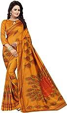 AKSHAR STORE Women's Malgudi Silk Saree with Blouse Piece (Free Size, Mustard, Kanhaya Mustard)