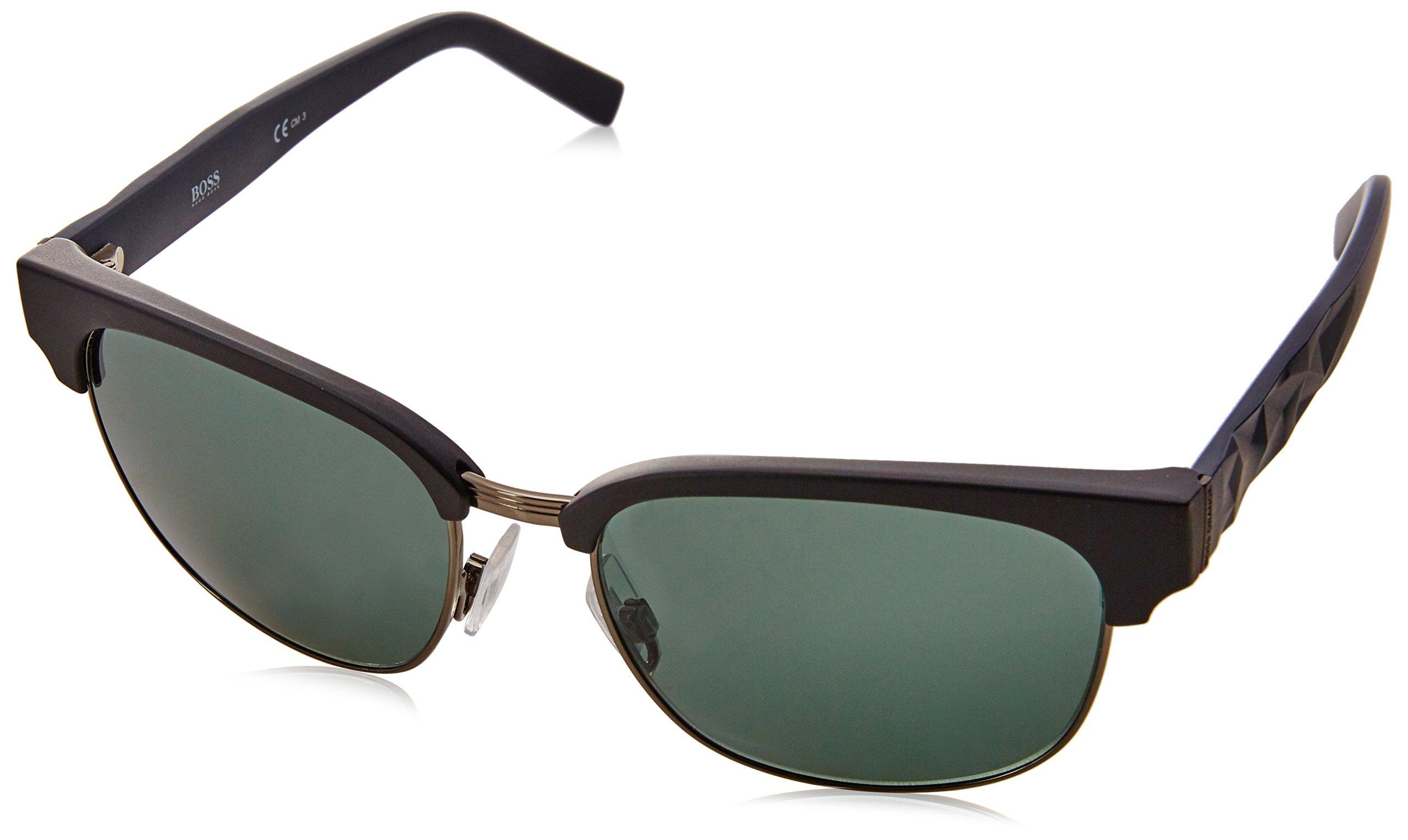 BOSS Orange BO 0234/S A3 LE1, Gafas de Sol Unisex-Adulto, Negro (Matt Black/Green), 54