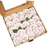 ASYOUWISH Fleurs Artificielles, 25 Pièces, Fausses Roses en Mousse de Polystyrène avec Tiges, Adaptées à la Décoration Intéri