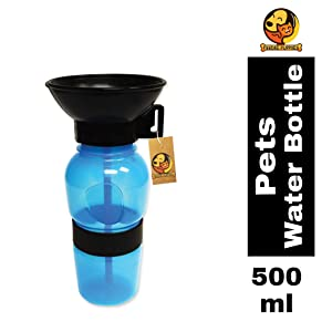 Foodie Puppies Outdoor Travel Portable Water Feeder Sipper Bottle & Drinking Cup for Pets, Puppies & Dogs - (500ml, Color May Vary)