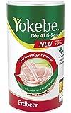 Yokebe. Die Aktivkost Diätshake (zur Gewichtsabnahme, glutenfrei, laktosefrei und vegan, Diät-Drink mit Proteinen) Erdbeer, 500 g (12 Portionen)