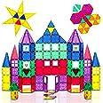 Playmags 100 Piezas Super Set - con los Imanes más Fuertes Garantizados, Robustos y Súper Duraderos con Colores Vívidos y Cla