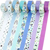PuTwo Washi Tape, Masking Tape Pastel 12 Rouleaux, 15mm Ruban Adhésif Décoratif, Washi Tape Japonais en Washi, Ruban…