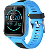 Smartklocka för barn - Smartwatches för pojkar och flickor med telefonsamtal SOS 14 spel musikkamera väckarklocka stoppur ins