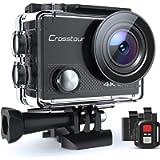 Crosstour Action Camera 4K 20MP Wifi Underwater 30M with Remote Control IP68 Waterproof Case (CT9000-DE)
