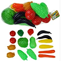 BAYBEE Funbee Vegetables, Play Food for Kids, Kitchen Toys (Green, Red)
