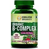 Himalayan Organics Organic B Complex Vitamins B12, B1, B3, B2, B9 and Biotin for Metabolism, Hair and Energy 120 Veg…