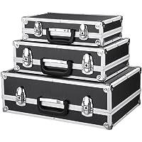 iKayaa - Cassette degli attrezzi con telaio in alluminio e ABS, set da 3 pezzi